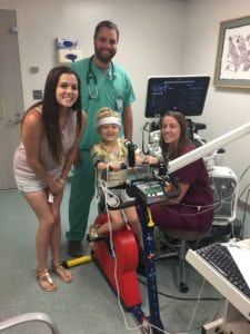 Zoey Kenison, along with her mother, pediatric cardiologist Yoni Dayan and ultrasound techonologist Kimberly Jessee.