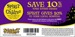 Spirit of Halloween coupon